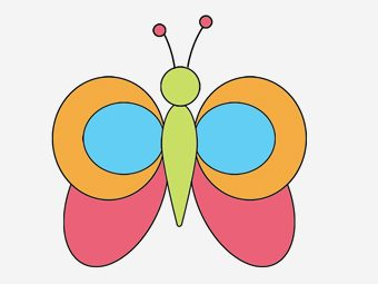 How To Draw A Butterfly Step By Step For Kids?
