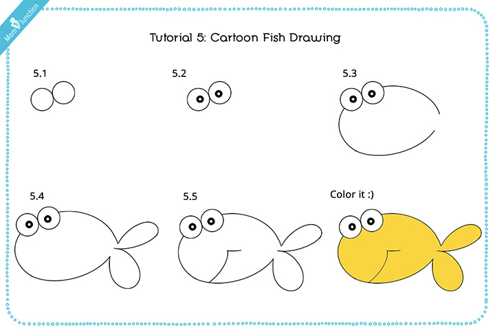How To Draw A Fish Step By Step For Kids