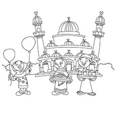 Children Celebrating Near Eidgah