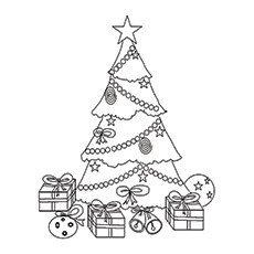 Coloring Pages of Christmas Tree