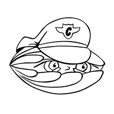 Clam Coloring Page - Clam Security Guard