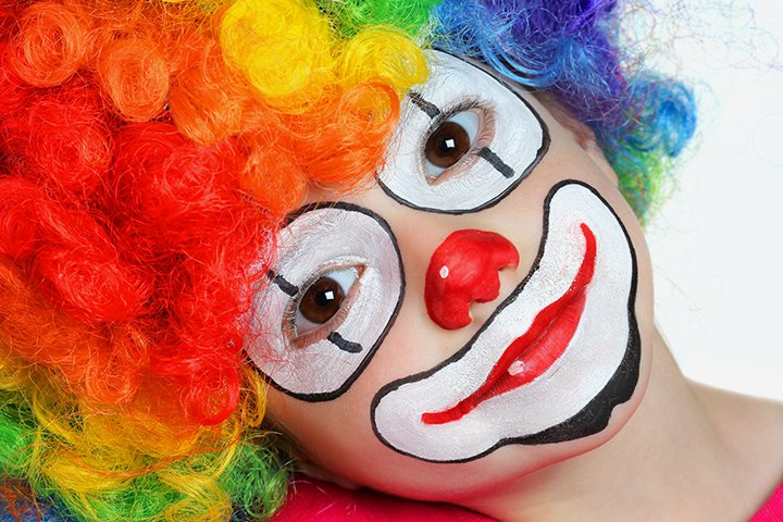 halloween face paint for kids clown