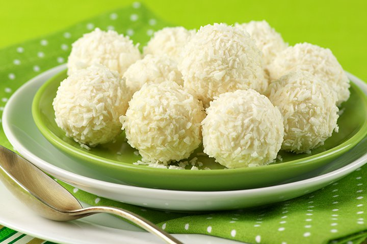 Diwali Sweets Recipes For Children - Coconut Laddoo