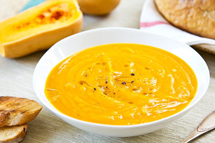 Curried Squash And Chicken Soup