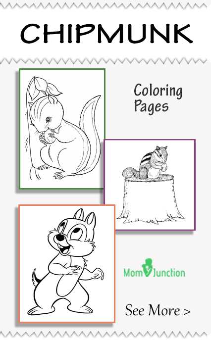 cute chipmunk coloring pages - photo#34