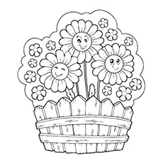 Daisy Bouquet Picture to Color Free