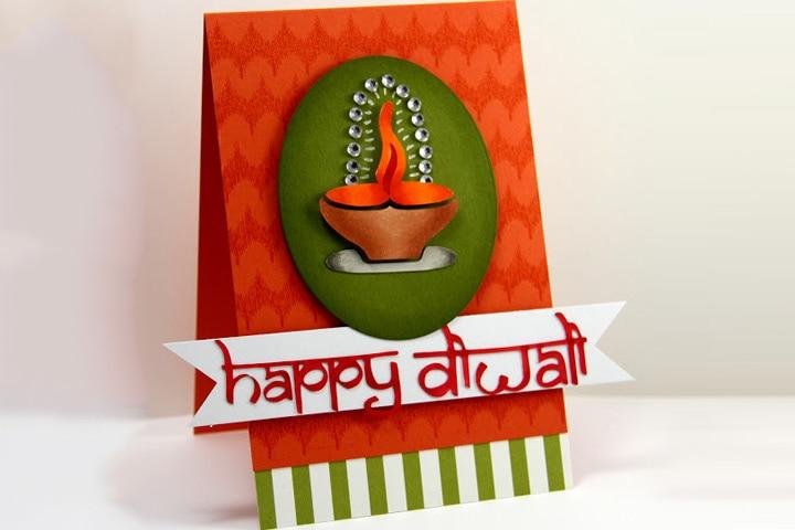 Diwali Craft Ideas - Diwali-Homemade-Card
