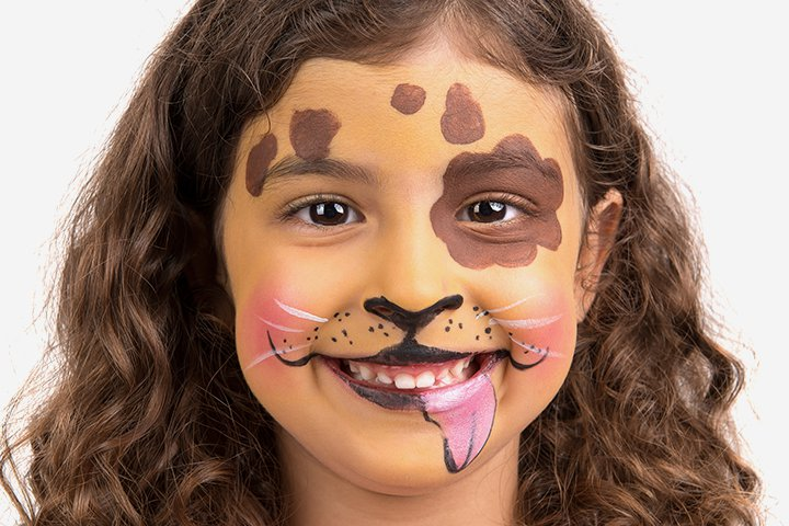 Halloween Face Paint For Kids - Dog