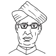 Teachers Day Coloring Pages - Dr. Sarvpalli Radhakrishnan