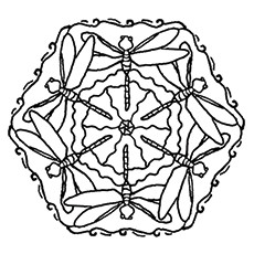 dragonfly coloring page dragonfly mandala - Dragonfly Coloring Page