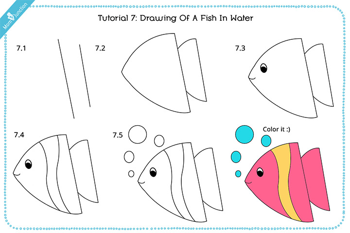 Drawing Of A Fish In Water With Pictures