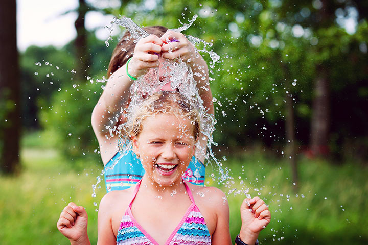 Drench Over With Water Balloons
