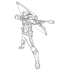 Hawkeye Coloring Pages - Earth's Mightiest Marksman