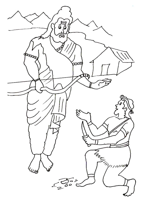 Eklavya-And-Dronacharya