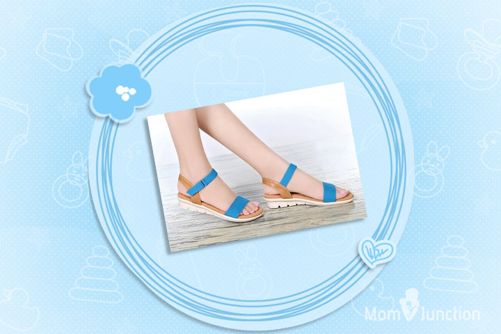 Pregnancy Footwear - Elegant Leather Summer Sandals Casual Flats Slippers Maternity