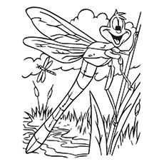 Top 10 Dragonfly Coloring Pages For Toddlers