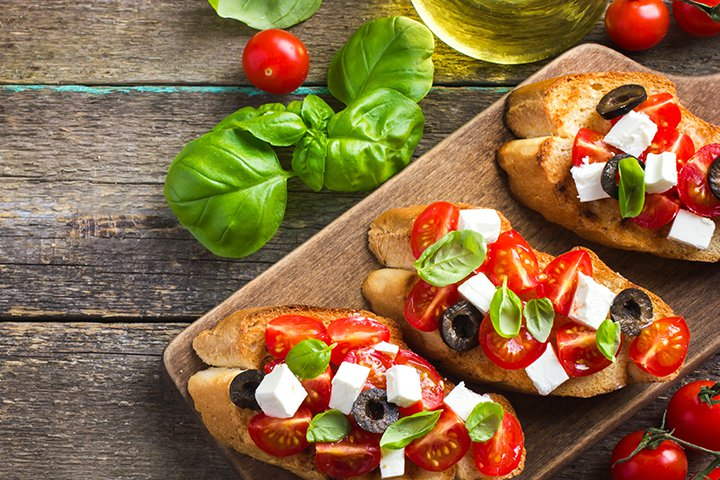 Feta Bruschetta Food Recipe for Baby Shower