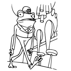 Frankie Frog Printable Coloring Page