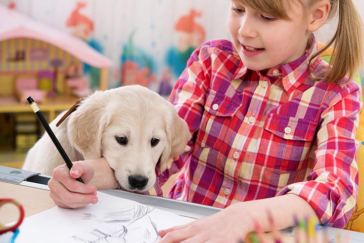 How To Draw A Dog For Kids Pictures