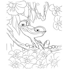 Gabi is Small Poison Dart Frog Coloring Page