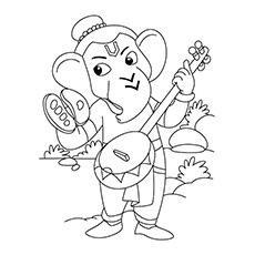 10 Cute Lord Ganesha Coloring Pages For Your Little One