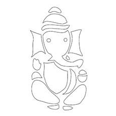Ganesha Coloring Pages - Ganesh Rangoli