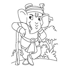 Ganesha Coloring Pages - Ganesh, the Protector