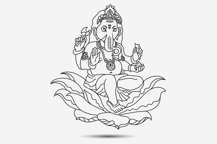 Vinayaka Chavithi Coloring Page Pictures