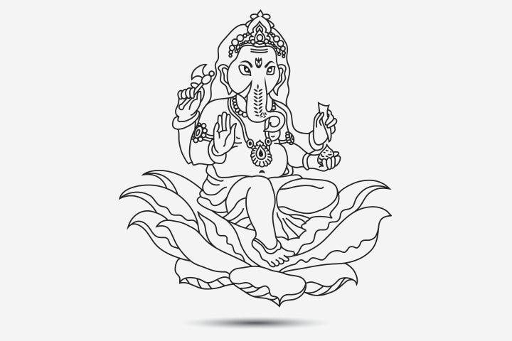 Vinayaka Chavithi Coloring Page Pictures