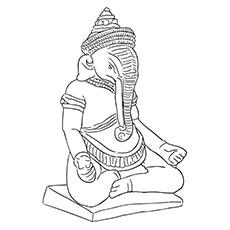 Ganesha Coloring Pages - Ganesha Idol