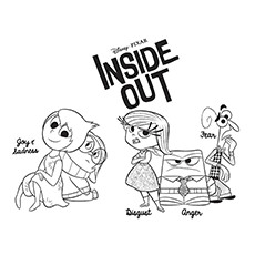 coloring pages inside out 10 Adorable Inside Out Coloring Pages For Your Little One coloring pages inside out