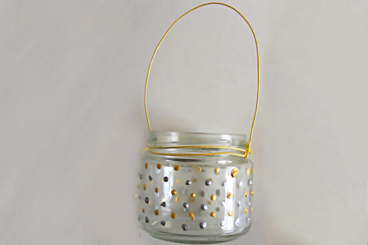 Diwali Craft Ideas - Glass-Painted-Candle-Holder
