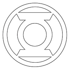 green lantern coloring pages green lantern corps symbol
