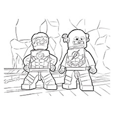 Lego Green Lantern Colouring Pages