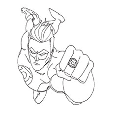 green lantern coloring pages green lantern ring