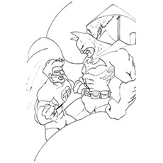 Green Lantern Coloring Pages - Green Lantern With Batman