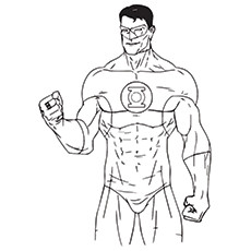green lantern coloring pages guy gardner - Green Lantern Logo Coloring Pages