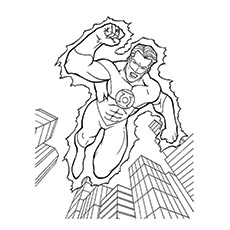 green lantern coloring pages hal jordon