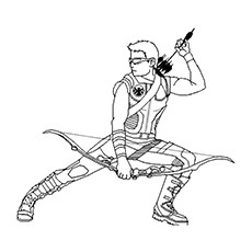 Hawkeye Coloring Pages - Hawkeye In Action
