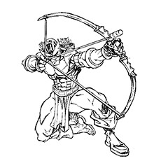 Hawkeye Coloring Pages - Hawkeye, The Incredible Leader