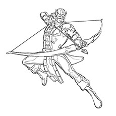 Hawkeye Coloring Pages - Hawkeye, The Martial Artist