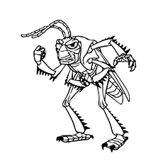 Grasshopper Coloring Page - Hopper