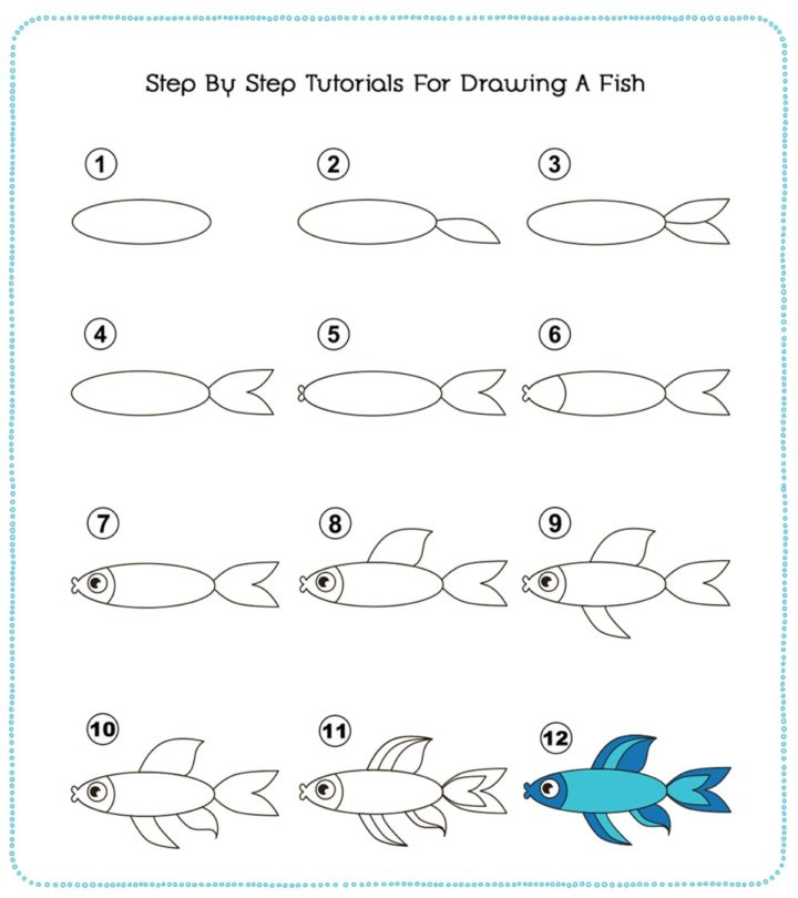 How To Draw A Fish Step By Step With Pictures