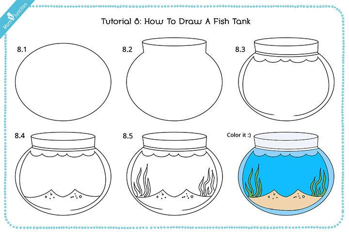 Drawing A Fish Tank With Pictures