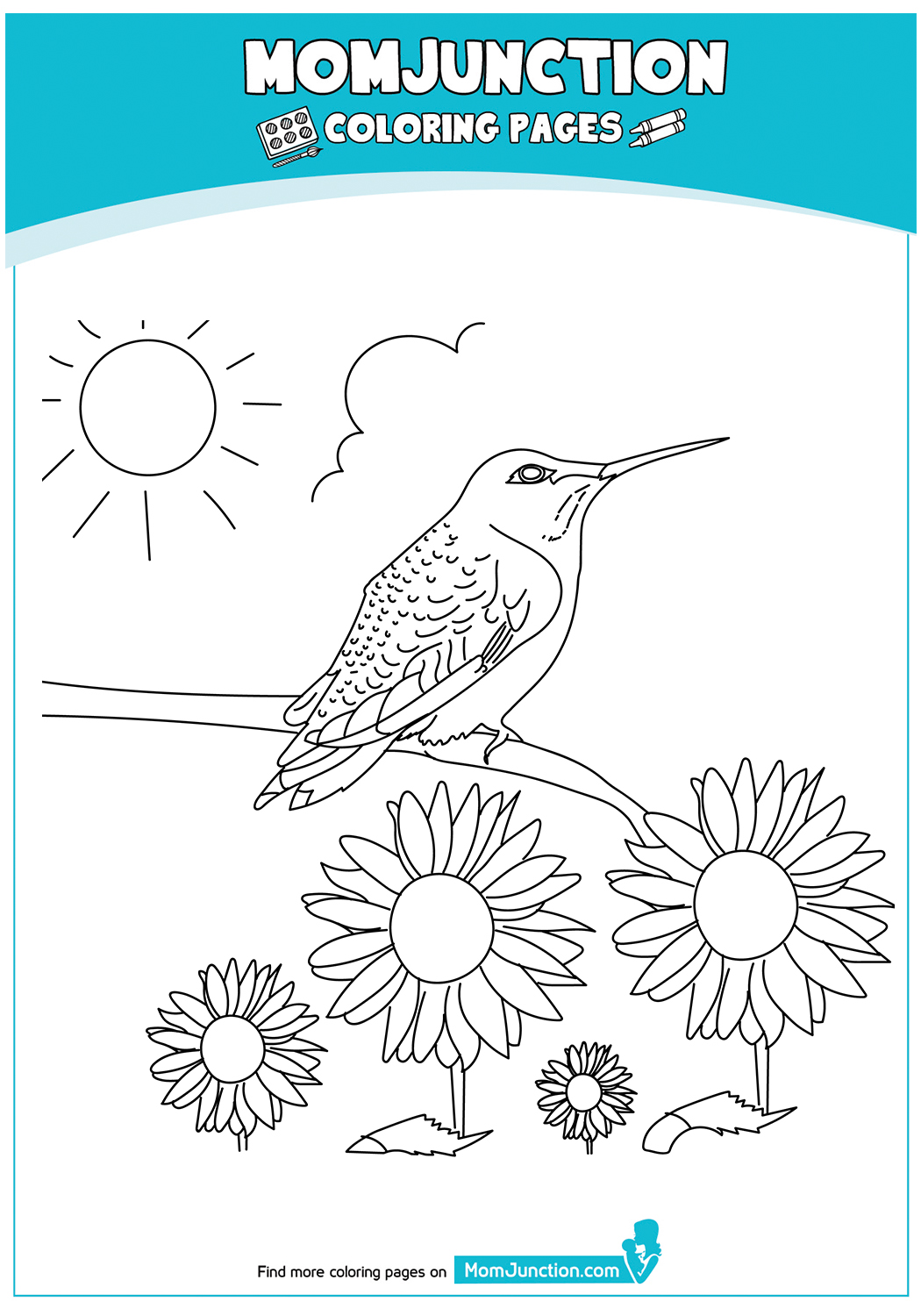 Hummingbird-And-Sunflower-Coloring-Page-17