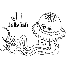 10 Lovely Jellyfish Coloring Pages For Your Toddler