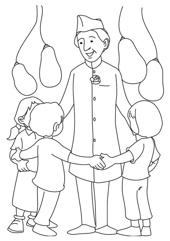 Jawaharlal-Nehru-Playing-With-Kids