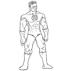 green lantern coloring pages john stewart - Green Lantern Logo Coloring Pages