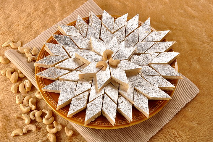 Diwali Sweets Recipes For Children - Kaju Katli