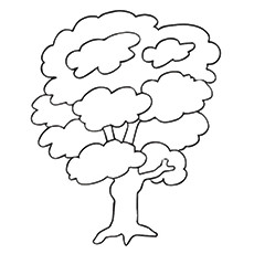 small coloring pages of trees - photo#9